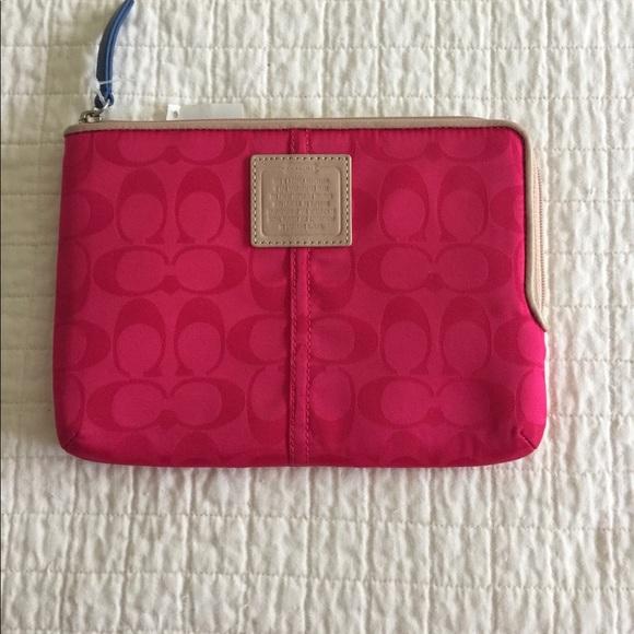 Coach Accessories - NWT Coach fuchsia tablet case.